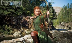 Evangeline Lilly als Tauriel in The Hobbit: The Desolation of Smaug