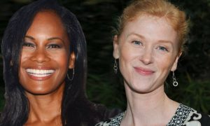 Robinne Lee en Fay Masterson in Fifty Shades Darker