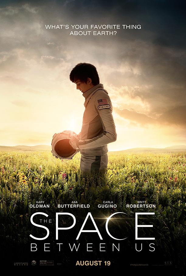 The Space Between Us trailer en poster