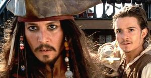 Orlando Bloom Johnny Depp in Pirates of the Caribbean 5