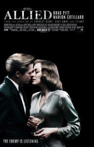 Allied poster en tv-spot met Brad Pitt & Marion Cotillard