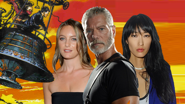 Stephen Lang, Jihae en Leila George in Peter Jackson's Mortal Engines