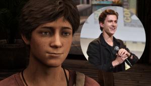 Tom Holland als jonge Nathan Drake in Uncharted