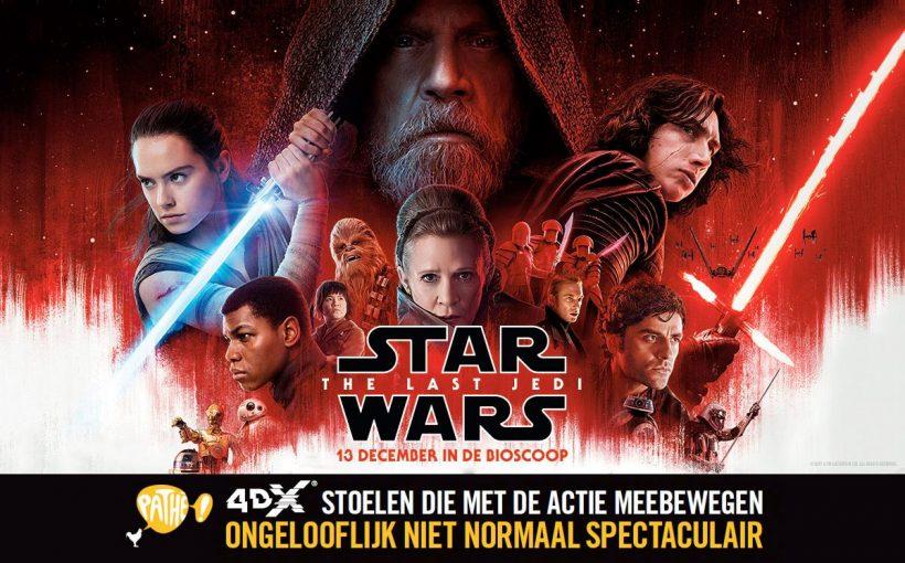 Star Wars: The Last Jedi de eerste film in 4DX en Dolby Cinema