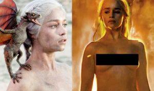 Emilia Clarke reageert weer op naaktscènes (in Game Of Thrones)