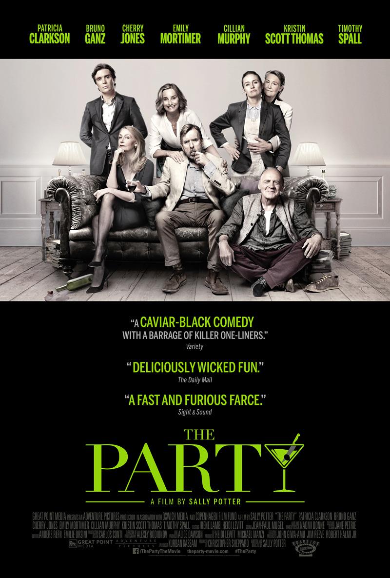 The Party trailer met Kristen Scott Thomas en Timothy Spall