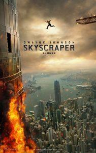 Dwayne Johnson in Skyscraper poster en trailer