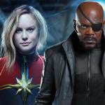 Tweeogige Nick Fury op setfoto's Captain Marvel