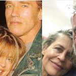 Arnold Schwarzenegger en Linda Hamilton herenigt op Terminator setfoto