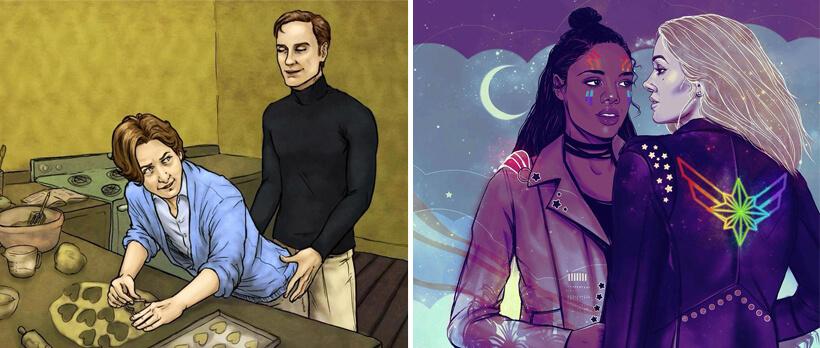 Wanneer zien wij een gay superheld? - fan art.