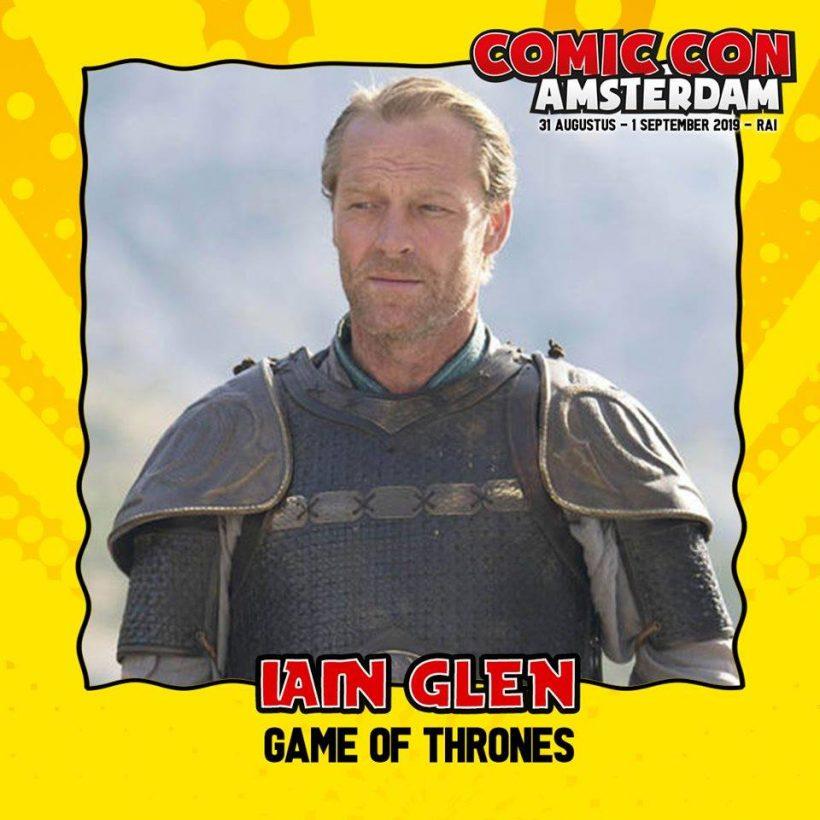 Iain Glen (Game of Thrones) komt naar Comic Con Amsterdam