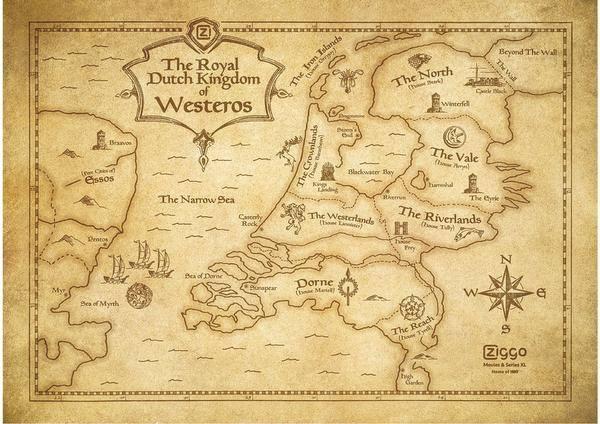 Wat als Game of Thrones zich in Nederland zou afspelen; aan welke kant sta jij dan?
