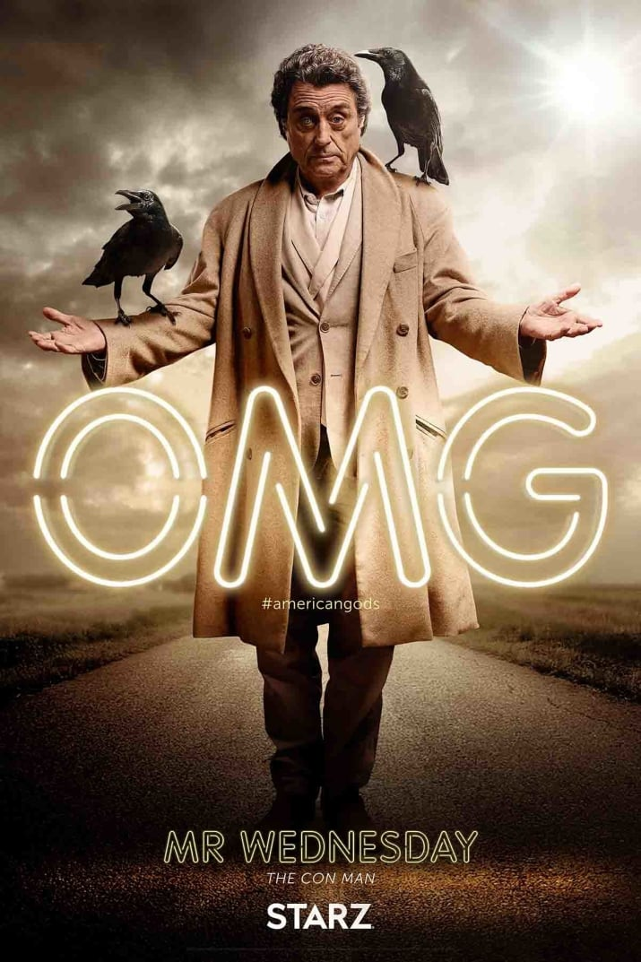 Nieuwe American Gods personage posters