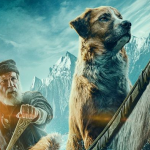 Internationale poster voor The Call of The Wild met Dan Stevens en Harrison Ford