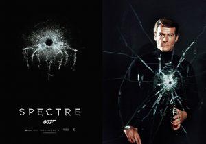 SPECTRE teaser poster en Roger Moore