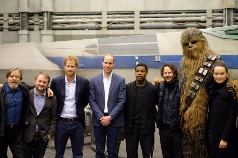 Koninklijk bezoek op Star Wars: Episode VIII set