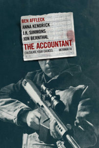 The Accountant poster met Ben Affleck