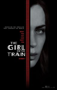 Emily Blunt in The Girl on the Train trailer en poster