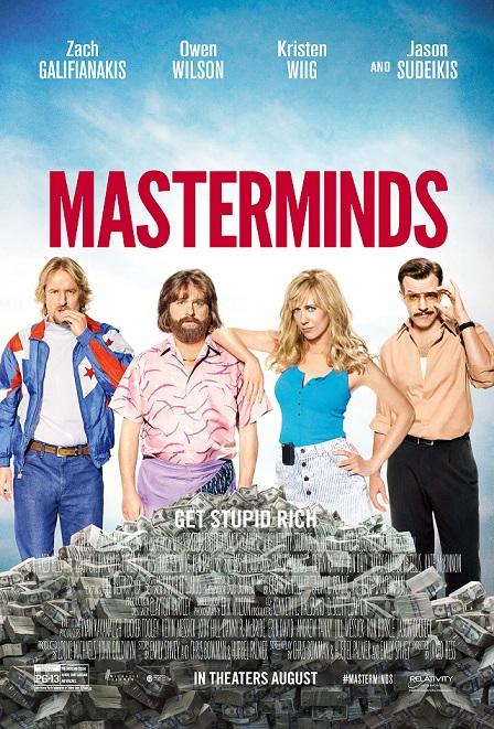Nieuwe Masterminds trailer met Zach Galifianakis & Kristen Wiig