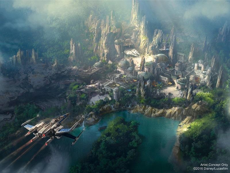 Nieuwe blik op Disneyland's enorme Star Wars Land