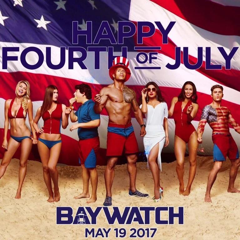 Patriottische poster Baywatch