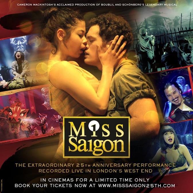 Miss Saigon de musical slechts één avond in de bioscoop