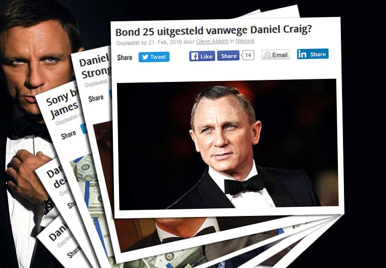 Filmhoek redactie stopt met Daniel Craig nieuws?