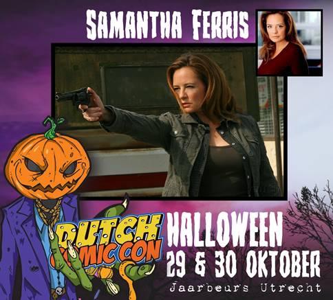 Samantha Ferris aanwezig bij Bats, Bones & Dice