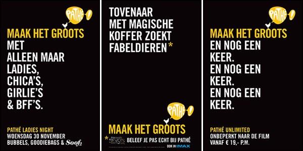 Pathé startcampagne 'Maak het Groots'