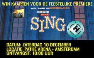Win kaarten première Sing!