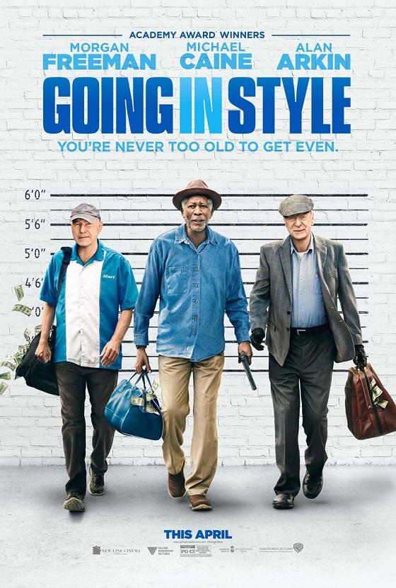 Morgan Freeman, Michael Caine en Alan Arkin in de Going in Style trailer en poster