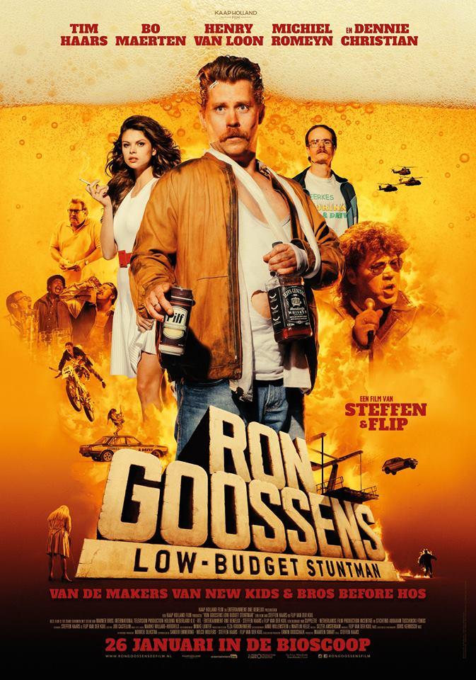 ron goossens low budget stuntman poster