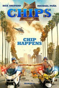 Michael Peña en Dax Shepard op CHiPs poster