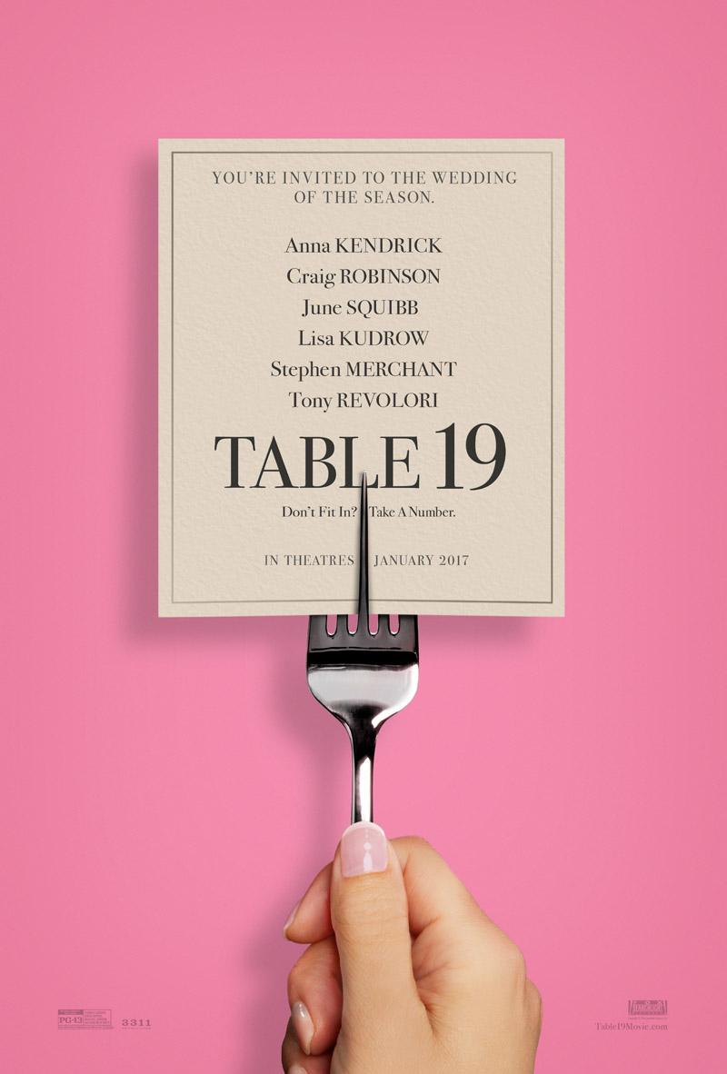 Romantische komedie Table 19 krijgt poster