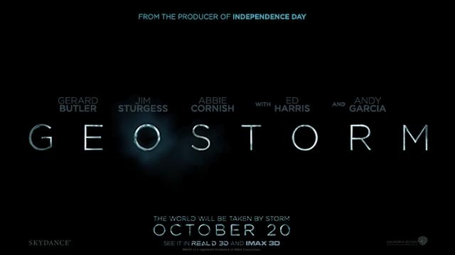 Eerste Geostorm trailer teasers