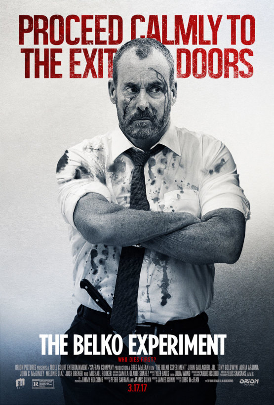 Nieuwe personageposters James Gunn's The Belko Experiment