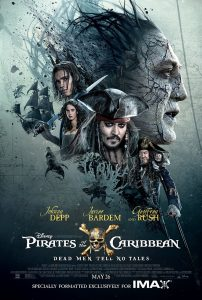 Nieuwe Pirates of the Caribbean: Dead Men Tell No Tales IMAX-poster