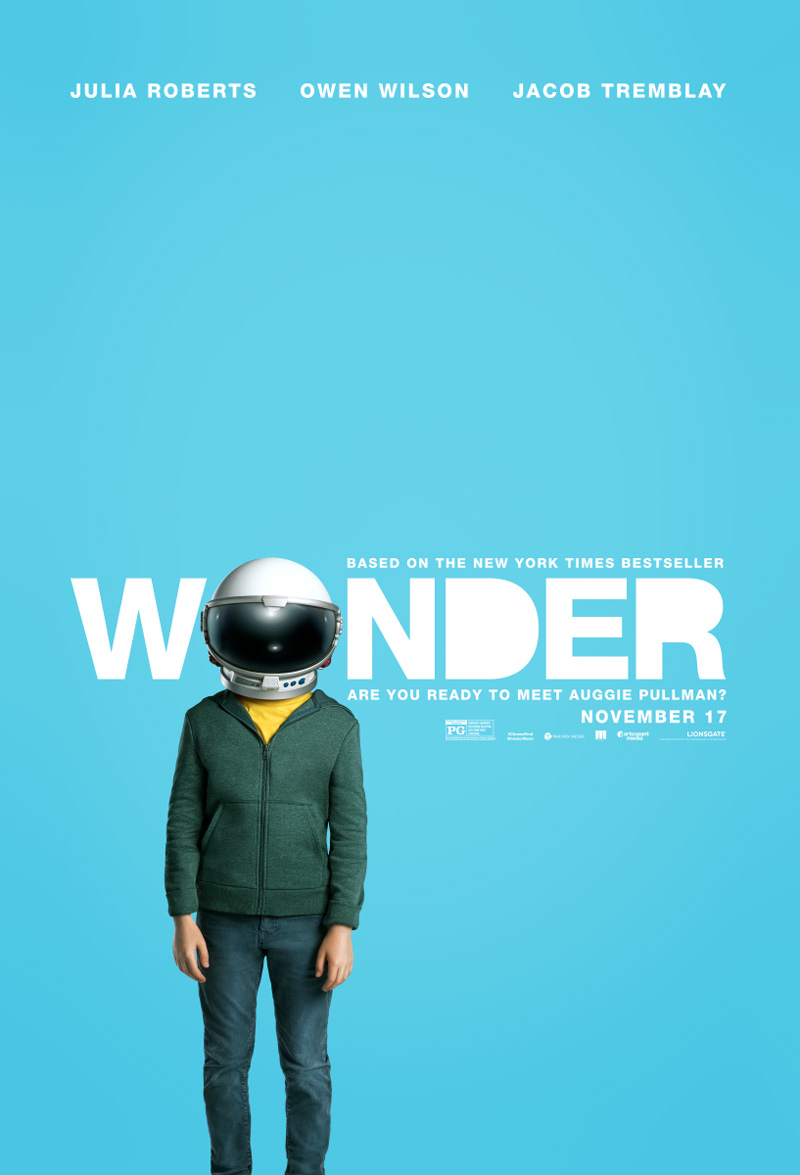 Wonder trailer en poster met Julia Roberts & Owen Wilson