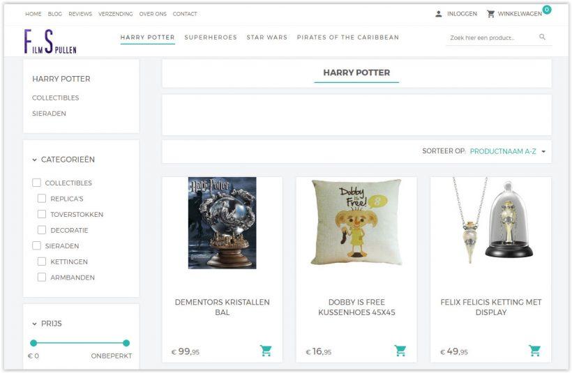 Filmspullen biedt interessante film merchandise aan!