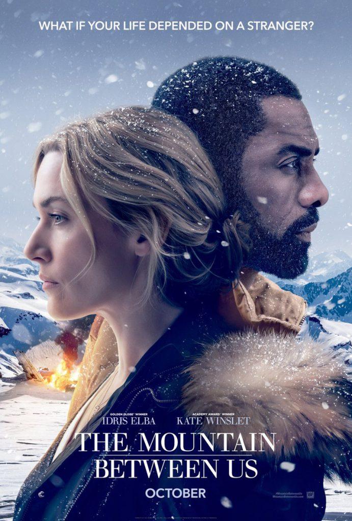 Kate Winslet & Idris Elba op nieuwe The Mountain Between Us poster
