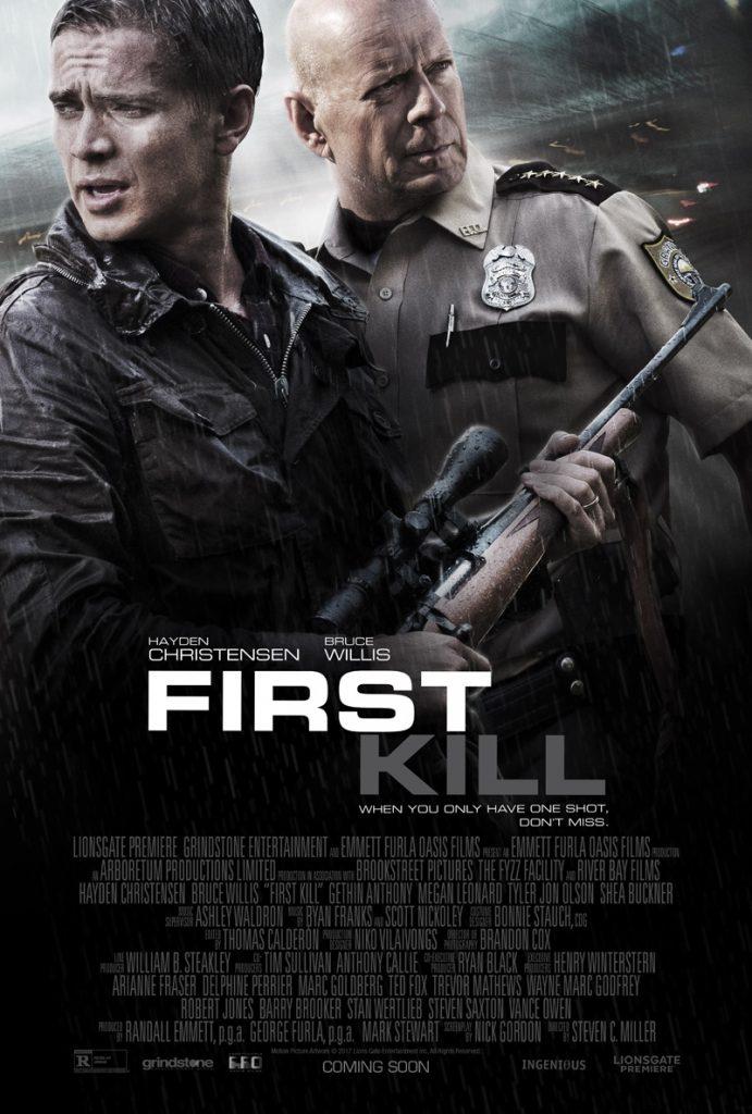 Hayden Christensen en Bruce Willis in First Kill trailer en poster