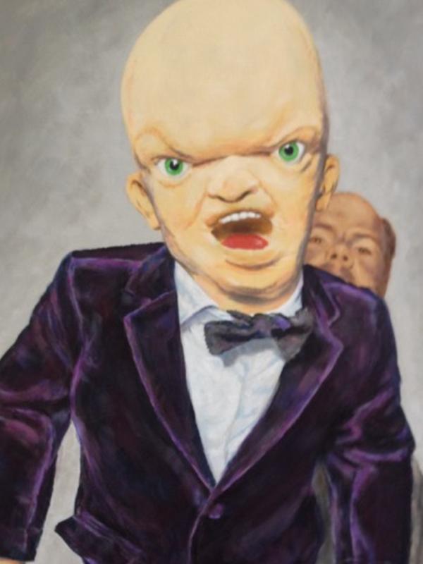 Schilderij van Billy (en een klein stukje Gerard). Schilder: Rob Schotsman
