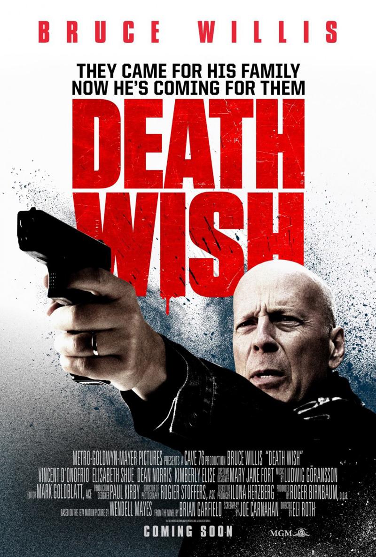 Bruce Willis op nieuwe Death Wish poster