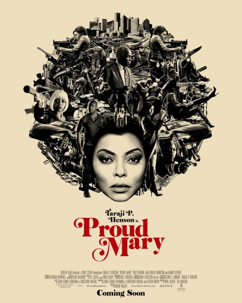 Taraji P. Henson als hit woman op Proud Mary poster
