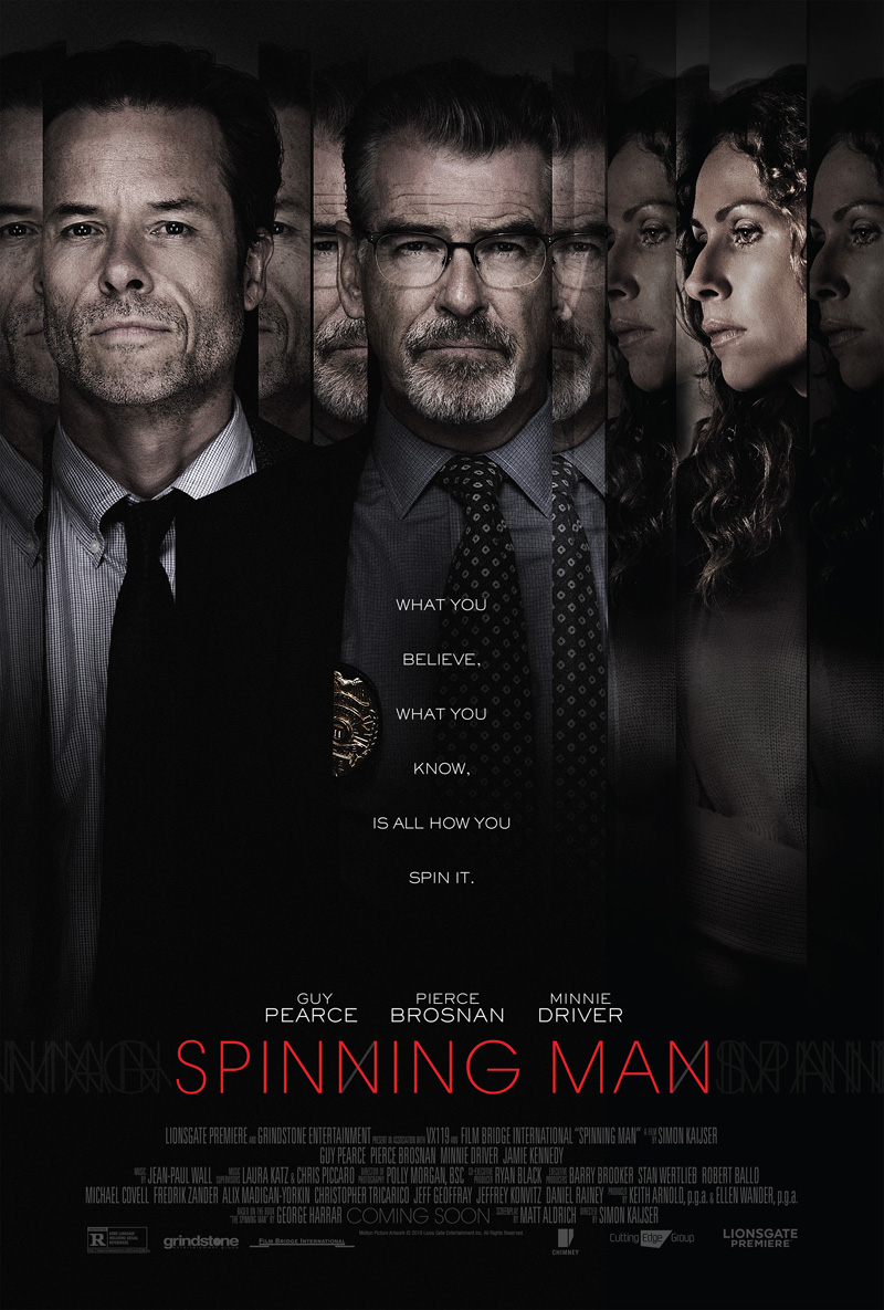 Nieuwe Spinning Man trailer en poster met Guy Pearce & Pierce Brosnan