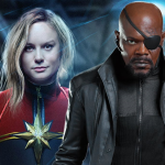 Tweeogige Nick Fury op setfoto's Captain Marvel