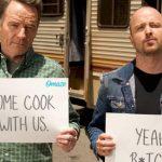 Bryan Cranston en Aaron Paul hielden een Breaking Bad reünie