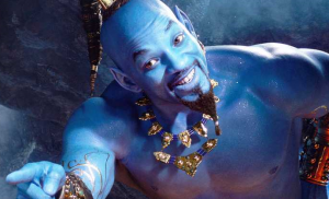Will Smith's blauwe Genie in Aladdin