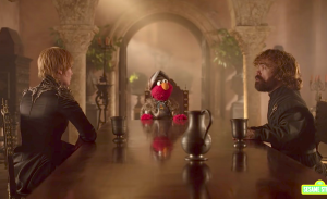 Elmo sust conflict tussen Game of Thrones