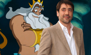 Javier Bardem in als King Triton in Disney's The Little Mermaid